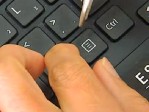sửa bàn phím laptop bị mất 1 phím bấm